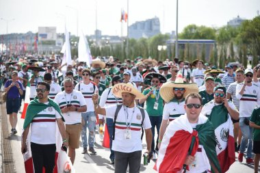 June 23, 2018. Russia. Rostov-on-Don. Fans of the Mexican national football team at the FIFA World Cup. Mexico people