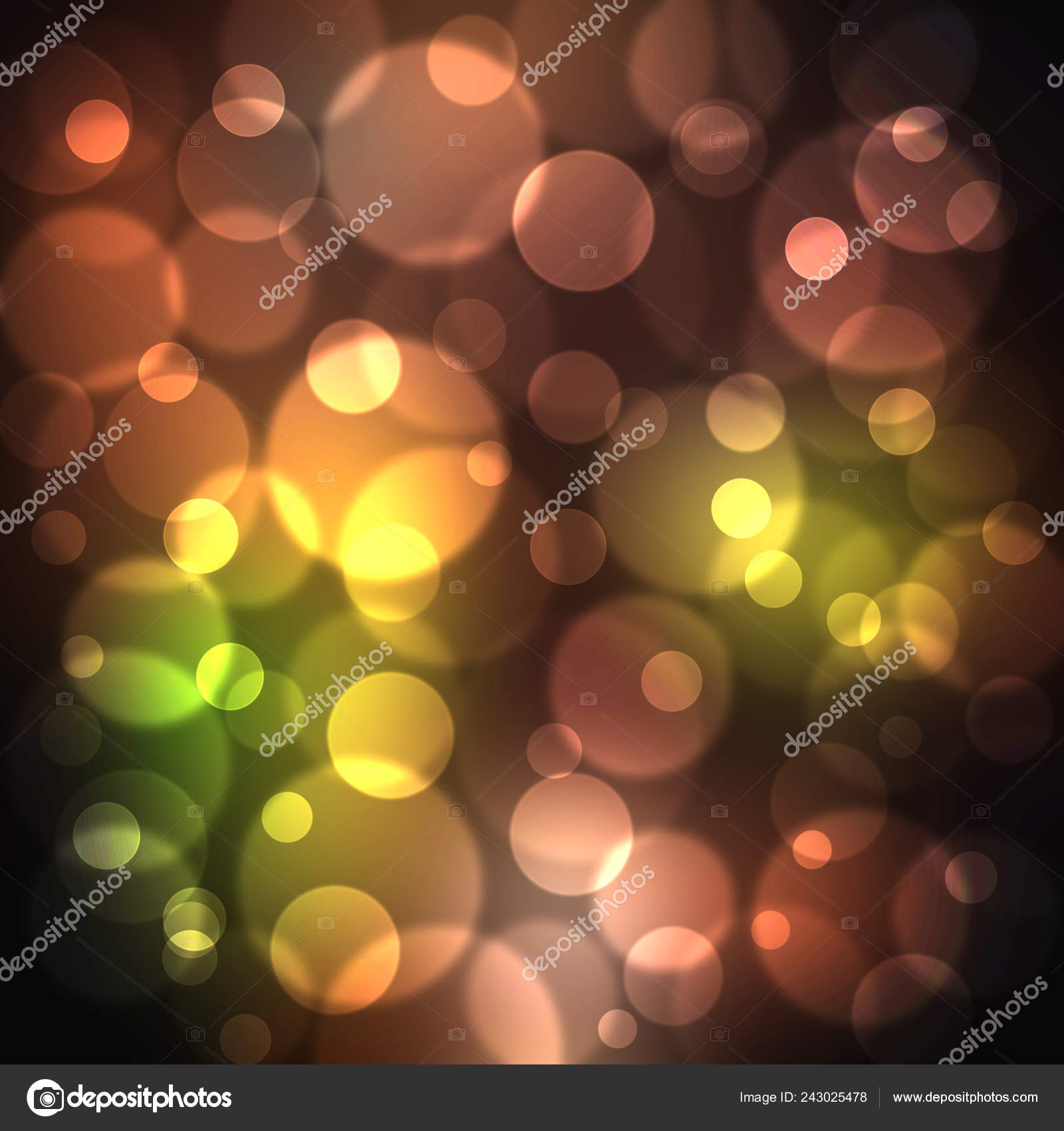 Multicolored Modern Bokeh Background Your Design Template — Stock