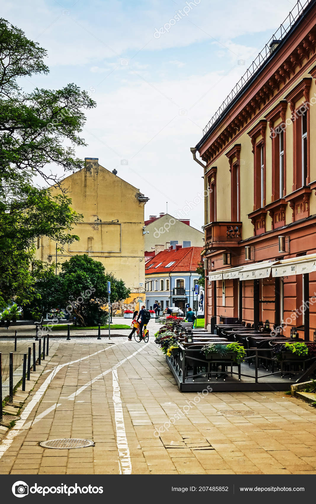 70d476b3ba Vilnius Lithuania September 2017 Street View Downtown Vilnius City  Lithuanian — Stock Photo