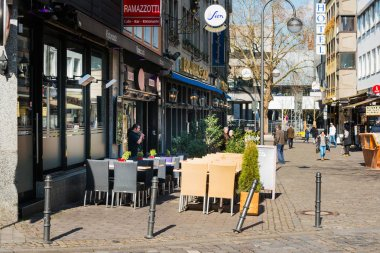 COLOGNE, GERMANY- March 14, 2018 : restaurant view in Cologne, Germany.
