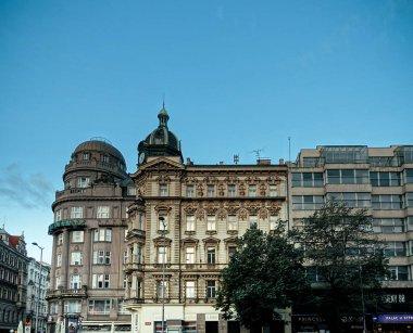 PRAGUE, CZECH REPUBLIC - July 25, 2017 : Antique building view in Prague, Czech Republic