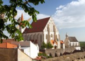 Fotografie Gotický kostel svatého Mikuláše v českých Kostel svateho Mikulase, Znojmo, Jižní Morava, Česká republika