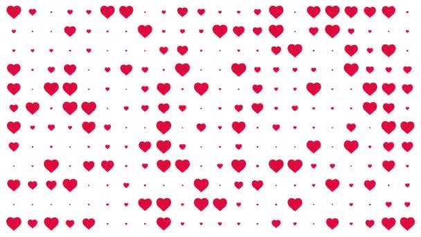 Červené srdce pulzuje. Animované pozadí. 4k. alfa kanál. Změnit velikost.