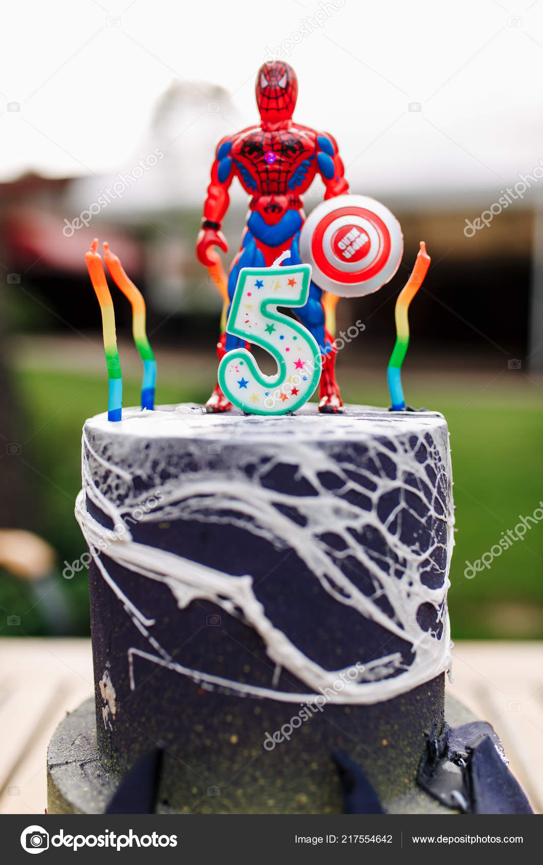 Swell Images Spider Man Cake 5 Year Baby Birthday Cake With Spiderman Funny Birthday Cards Online Barepcheapnameinfo