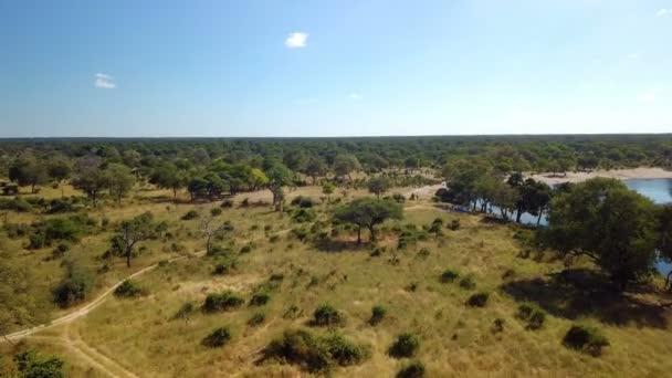 Légi-afrikai folyó táj Nambwa Namíbiában