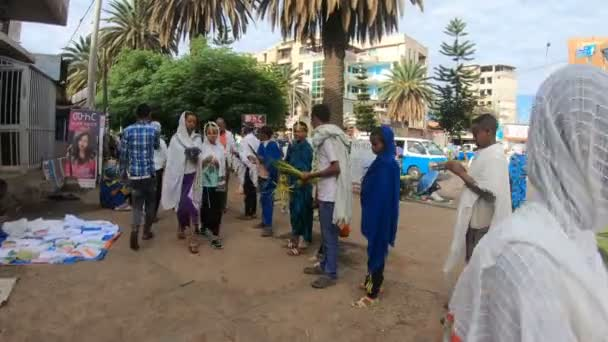orthodox christian on street of Ethiopia in Easter holiday