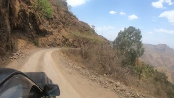 Car drive in the Simien Mountain, Ethiopia, Africa