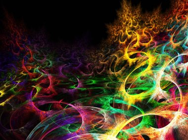 abstract artistic fractal pattern for background
