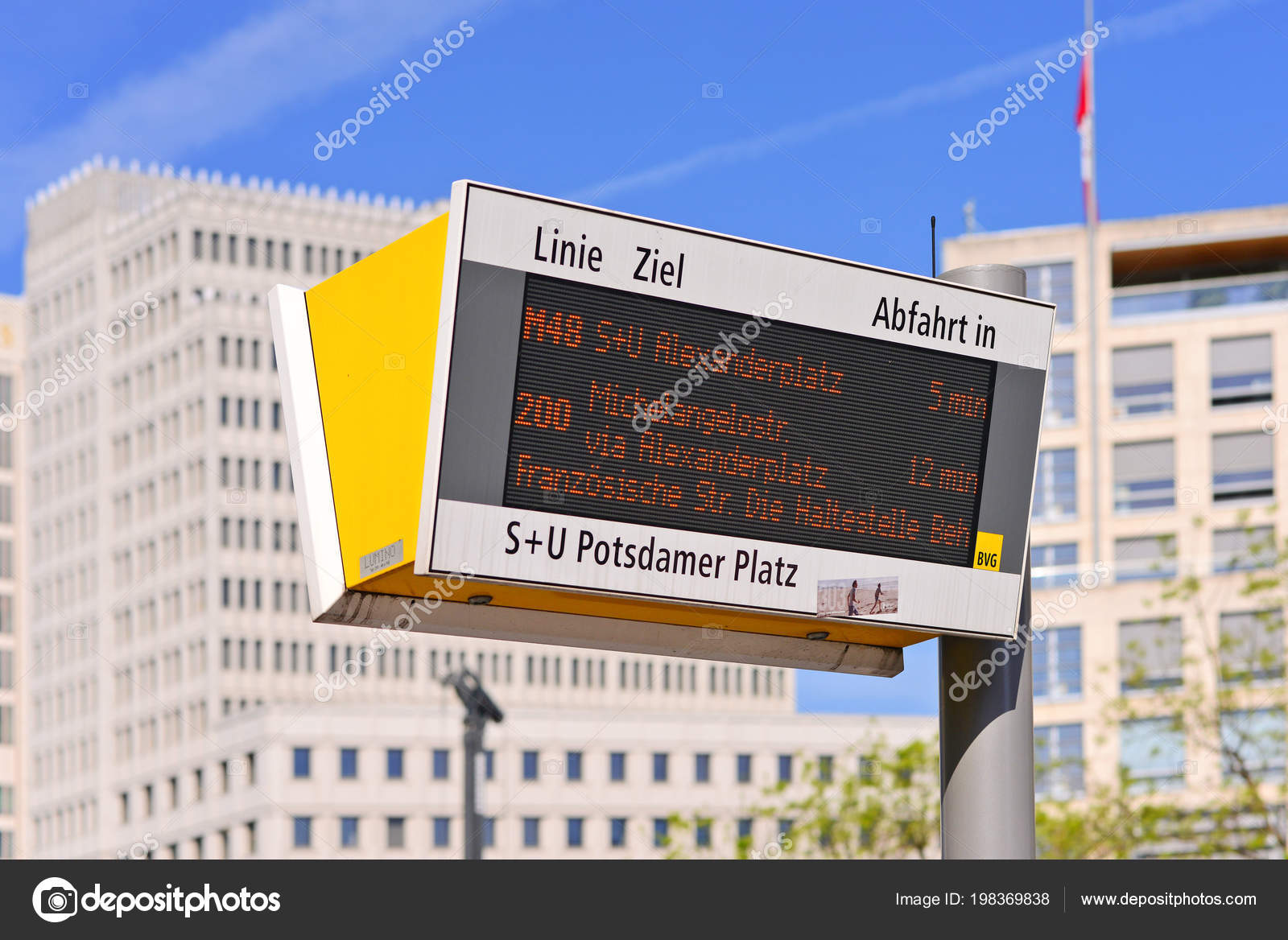 Berlin Federal Republic Germany April 2018 Traffic Schedule