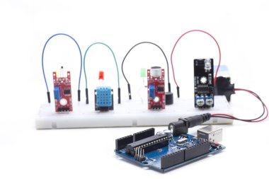 electronic components to develop different projects