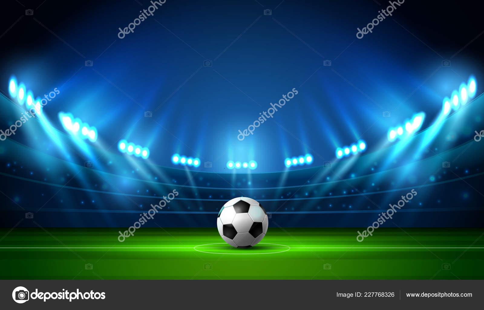 soccer football stadium spotlight scoreboard background glitter light vector stock vector c gorralit hotmail com 227768326 depositphotos