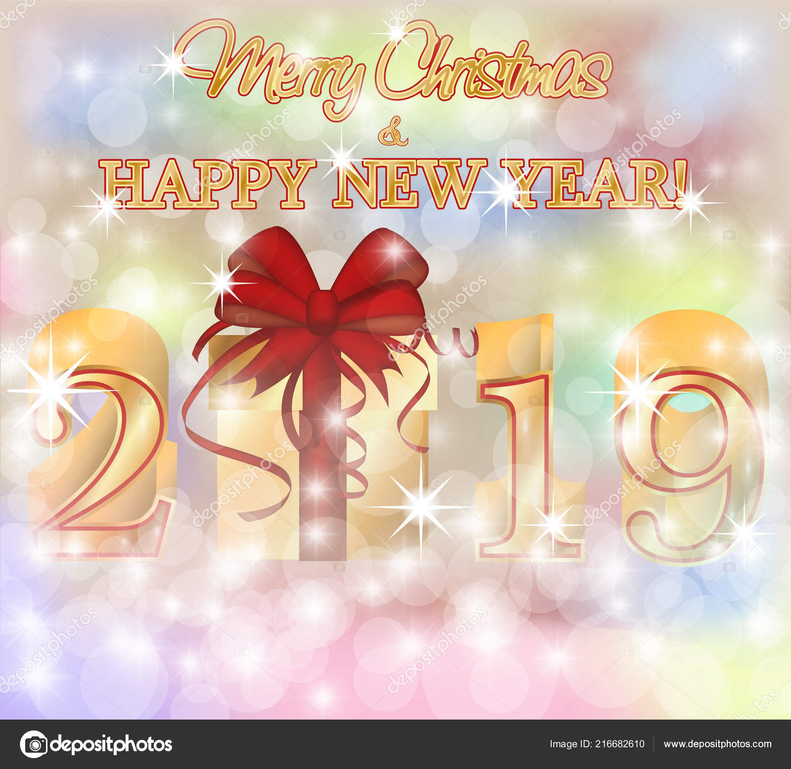 merry christmas and new year wallpaper merry christmas happy 2019 new year golden wallpaper vector illustration stock vector c carodi 216682610 https depositphotos com 216682610 stock illustration merry christmas happy 2019 new html