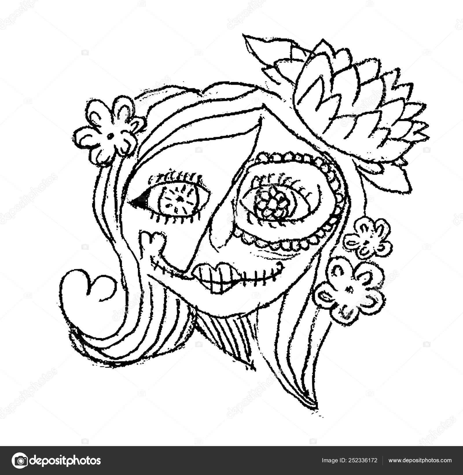 Dia Cranio Acucar Mexicano Morto Desenho Infantil Para Imprimir