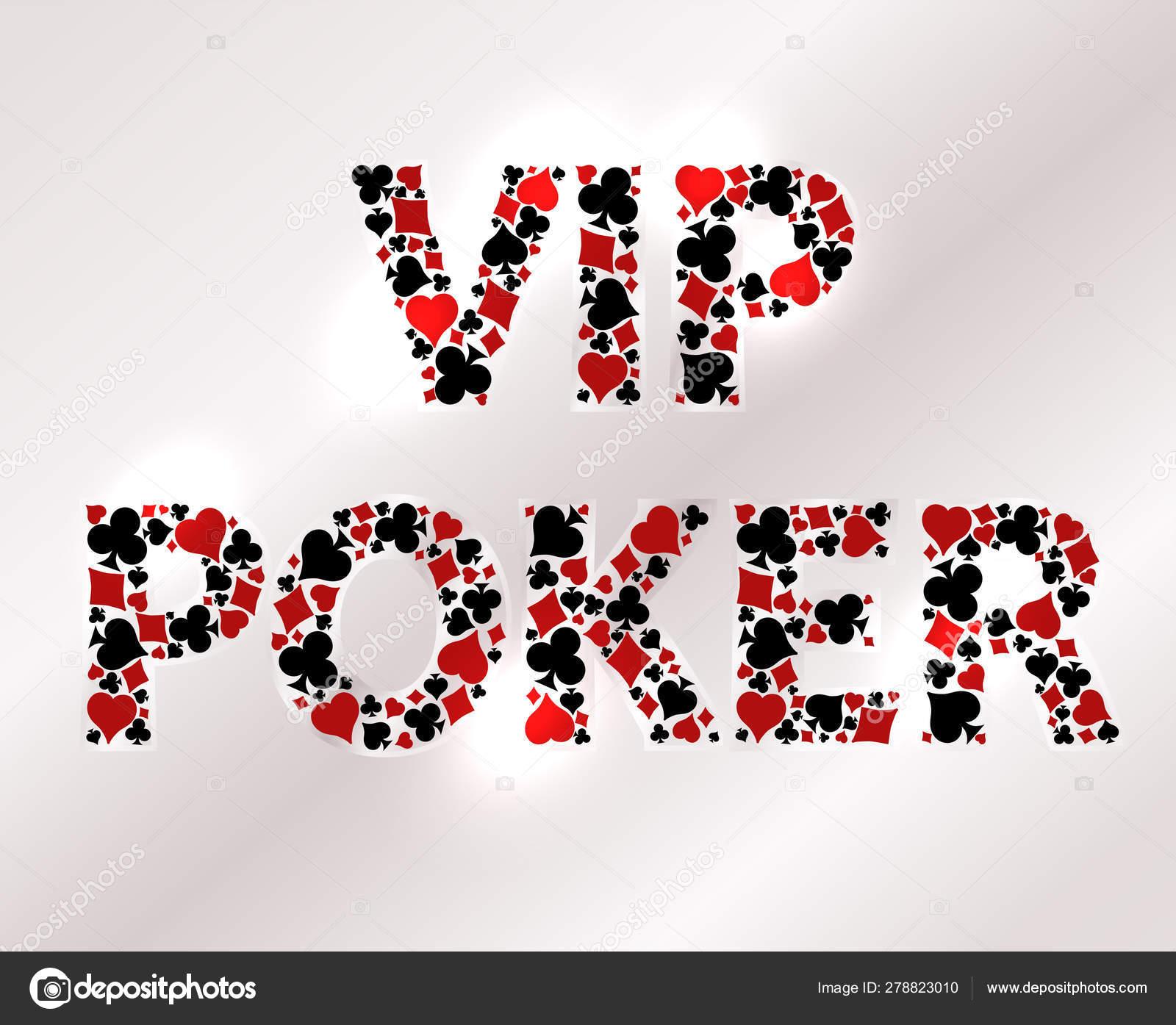 Tarjeta Invitación Vip Casino Poker Ilustración Vectorial