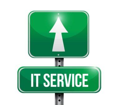 it service street sign illustration design