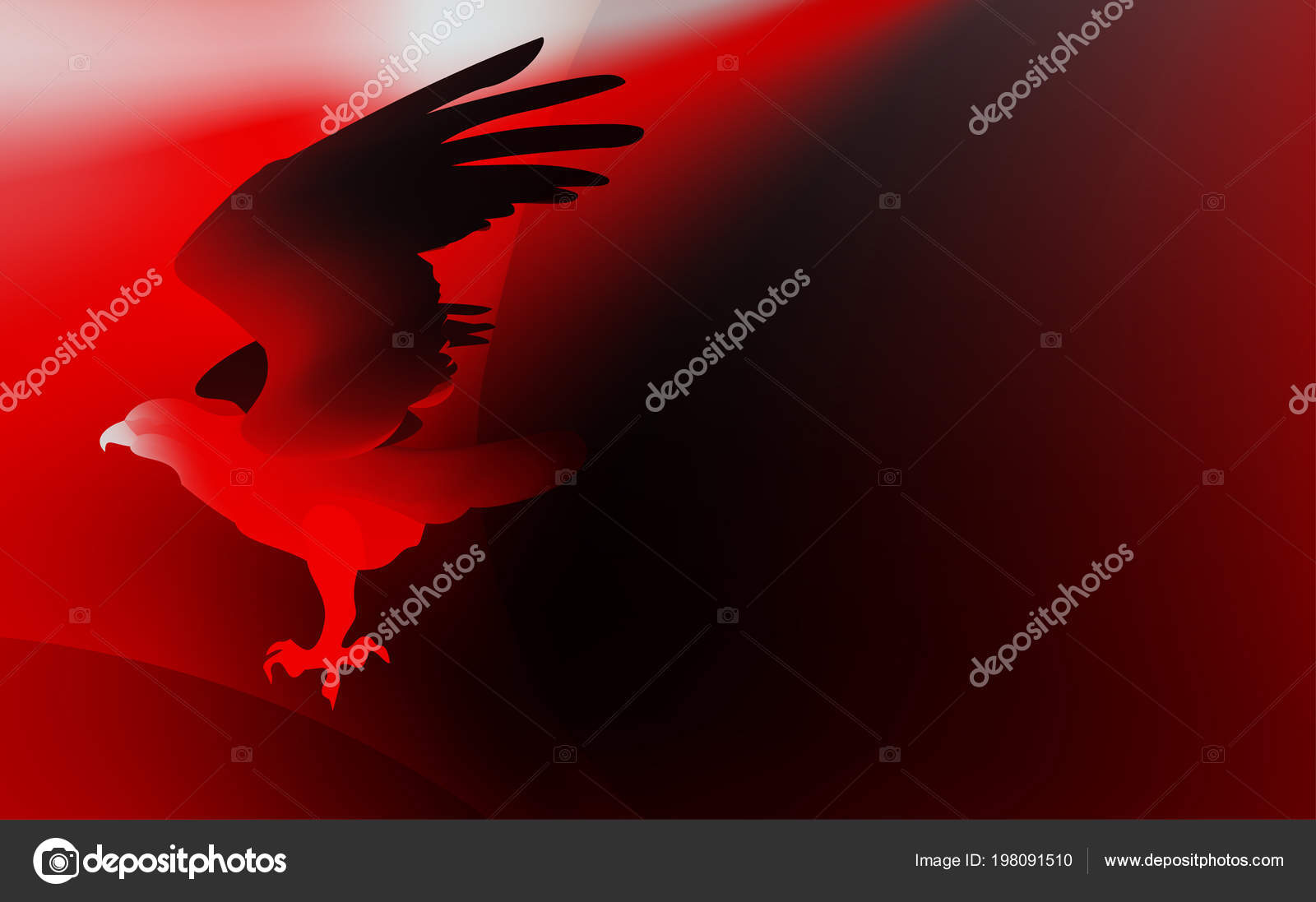 Fire Red Bird Eagle Flight Symbol Power Freedom Stock Vector