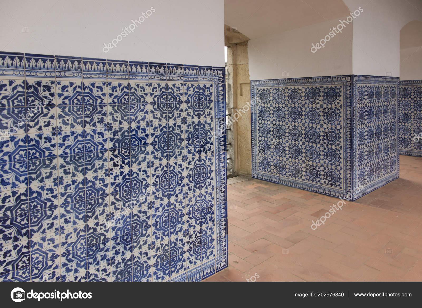 Piastrelle Di Ceramica Decorate.Convento Cristo Monastero Cattolico Tomar Portugal Portugal