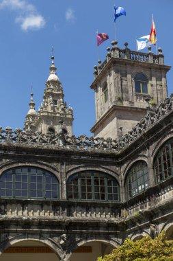Part of the historic buildings of the University of Santiago de Compostela in Spain