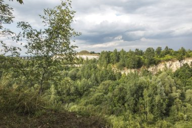 Old quarry in the area of the Krak Mound in Krakow
