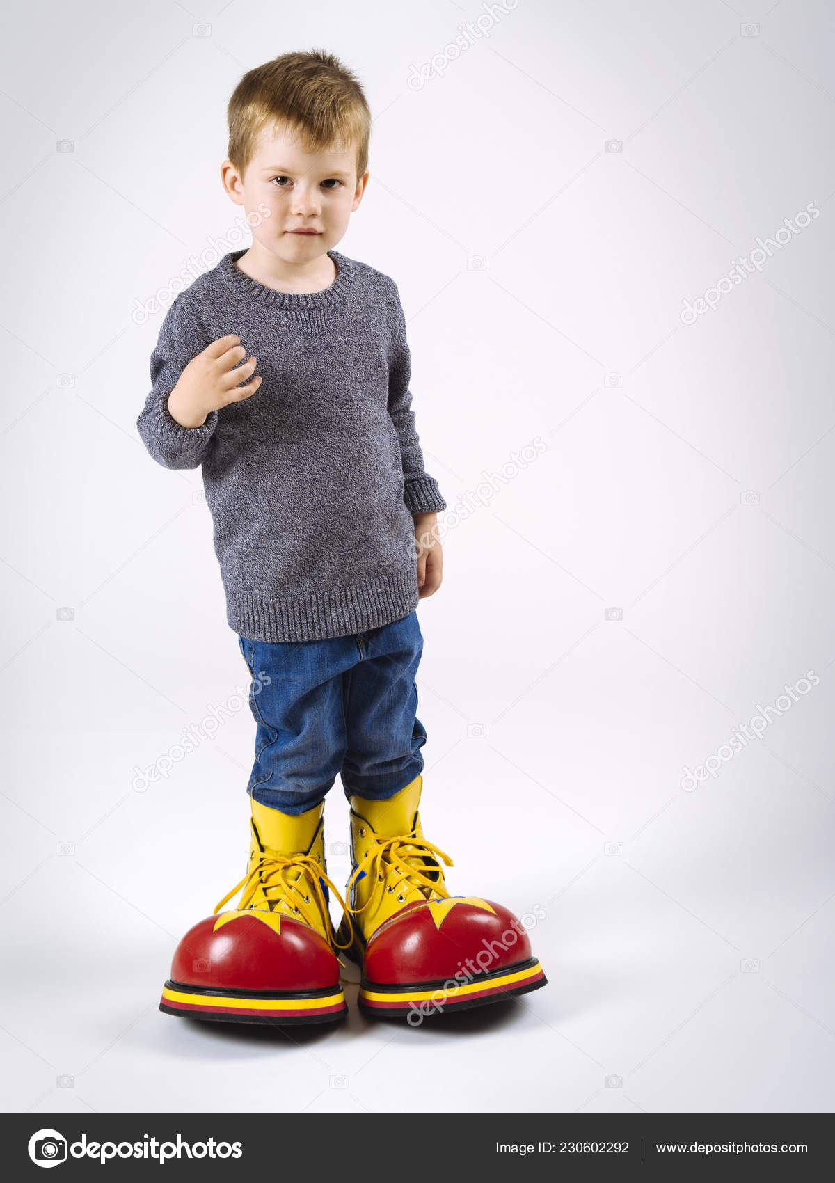 Grandes © Payaso — Stock Con Niño Sumners Zapatos Foto De KFTc1lJ