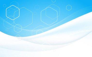 Business brochure cover design template. Vector. Blue Background. Clip-art