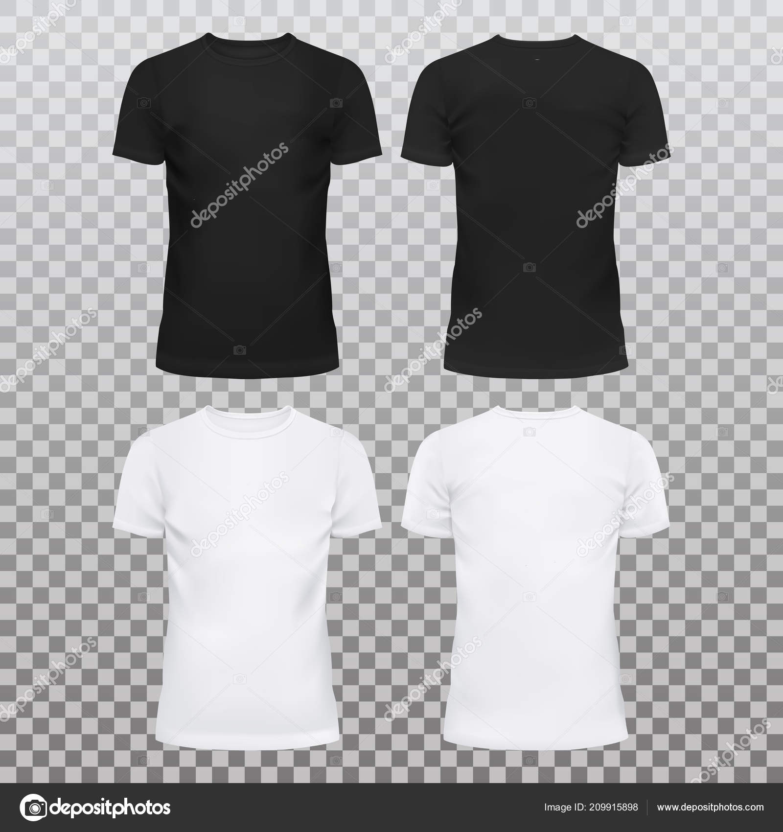 Oder — Männer Shirts Frauen Stockvektor T Leer Für Und H0qWqPdw