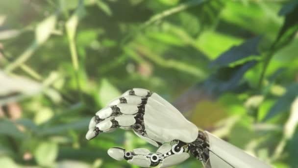 ruka robota a motýl