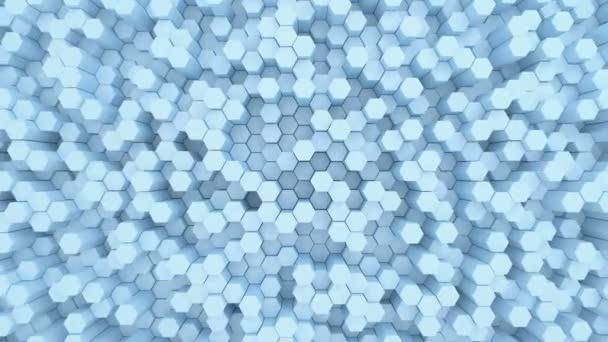 Schöne abstrakte sechseckigen Hintergrund, nahtlose Schleife 3D-Animation. 4k