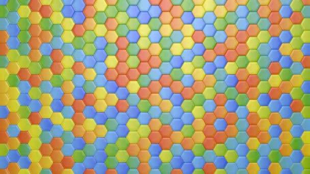 Vícebarevné pozadí abstraktní šestihranný