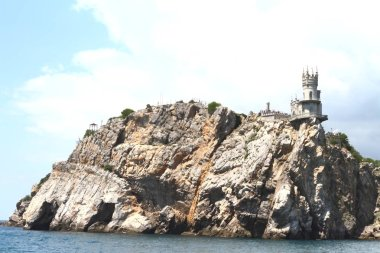 An ancient building in the Crimea city of Yalta Swallow's Nest.
