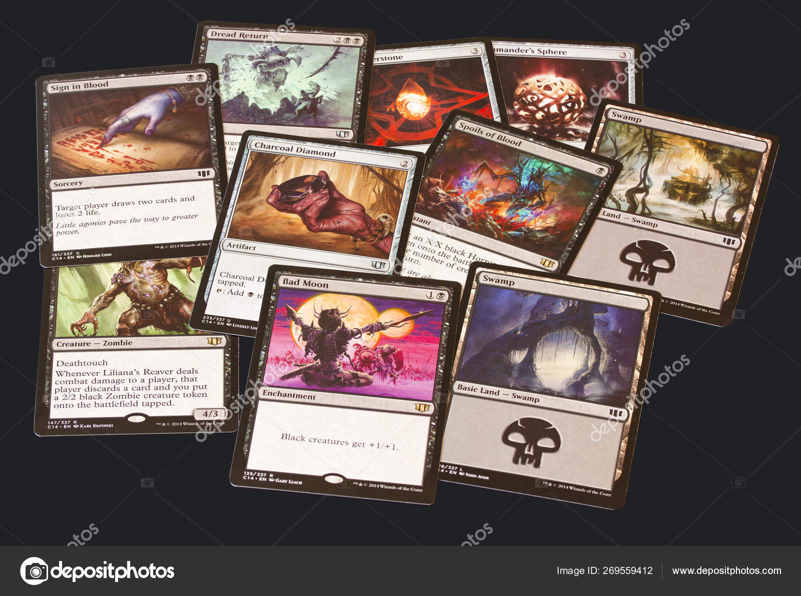 Cards Game Magic Gathering Black Background Magic Can Played