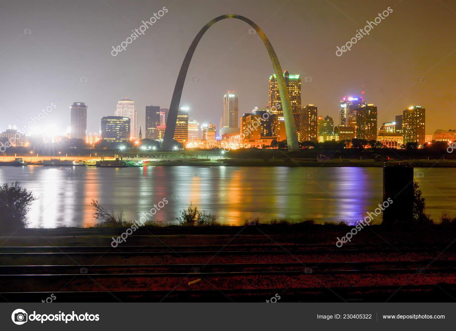2015 City Louis Missouri Estados Unidos Septiembre Ciudad San Luis