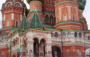 The walls of St. Basil's Cathedral