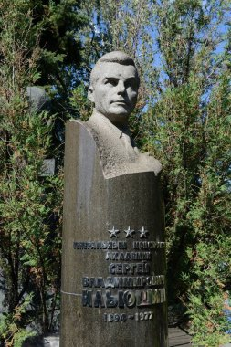 The grave of the outstanding Soviet aircraft designer Sergei Ilyushin at the Novodevichy Cemetery in Moscow.