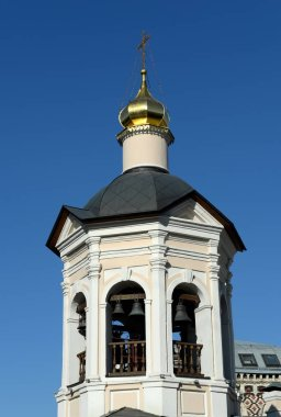 Bell tower of the Church of St. Sergius of Radonezh in Krapivniki in Moscow