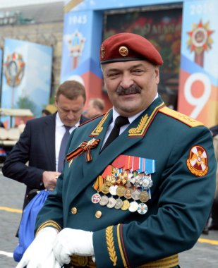 First Deputy Director of the Federal service of the national guard troops-Colonel-General Sergei Melikov on red square