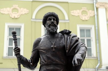 Monument to Tsar Ivan the terrible at the alley of rulers in Moscow