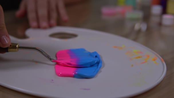 Achieving of a purple paint.