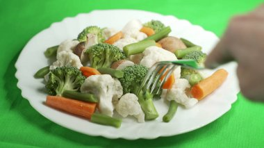 Lunch vegetarian dish with vegetables