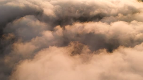 Real Flying over the evening timelapse clouds with the late sun. Flight through moving cloudscape with beautiful sun rays. Traveling by air. Perfect for cinema background