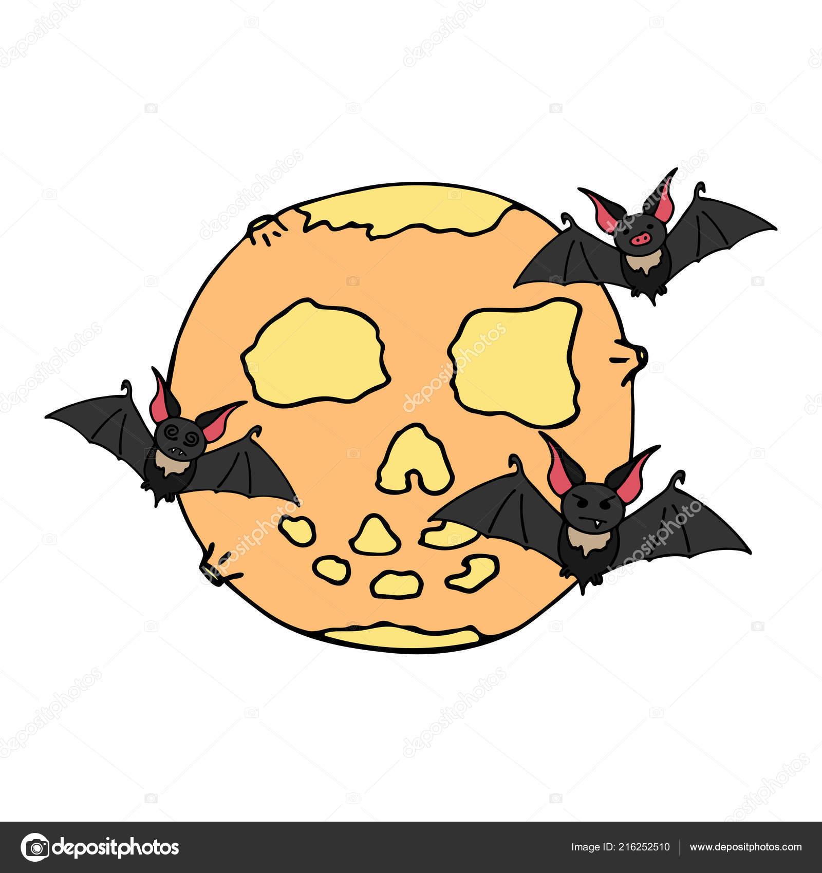 Icona felice di vettore di colore di halloween con pipistrello ... 3beed4812371