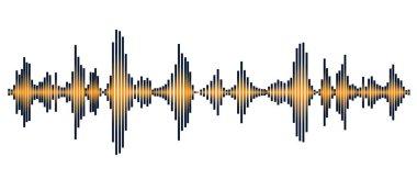 orange sound wave on the white background