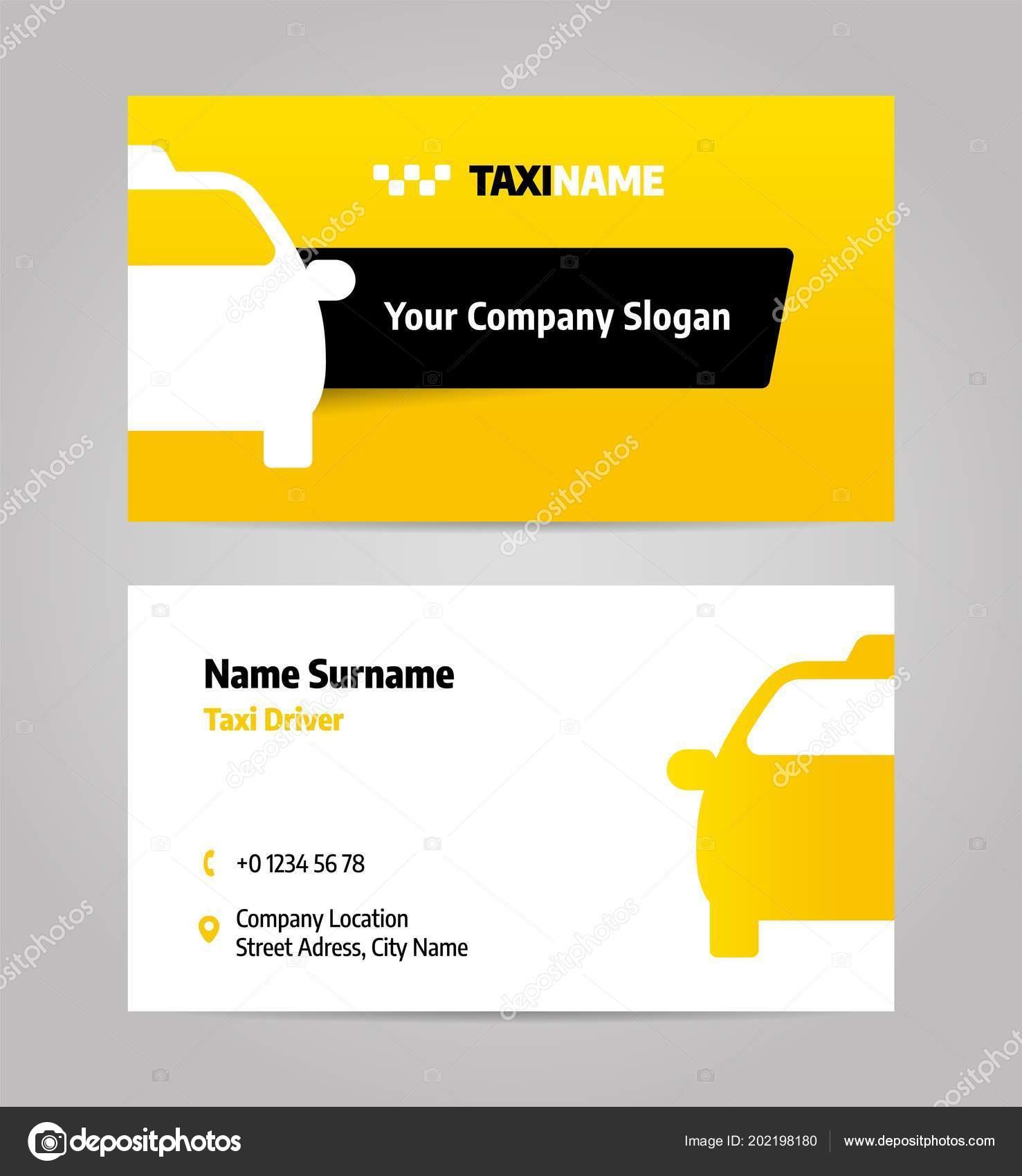 Entreprise De Taxis Ou Carte Visite Image Vectorielle