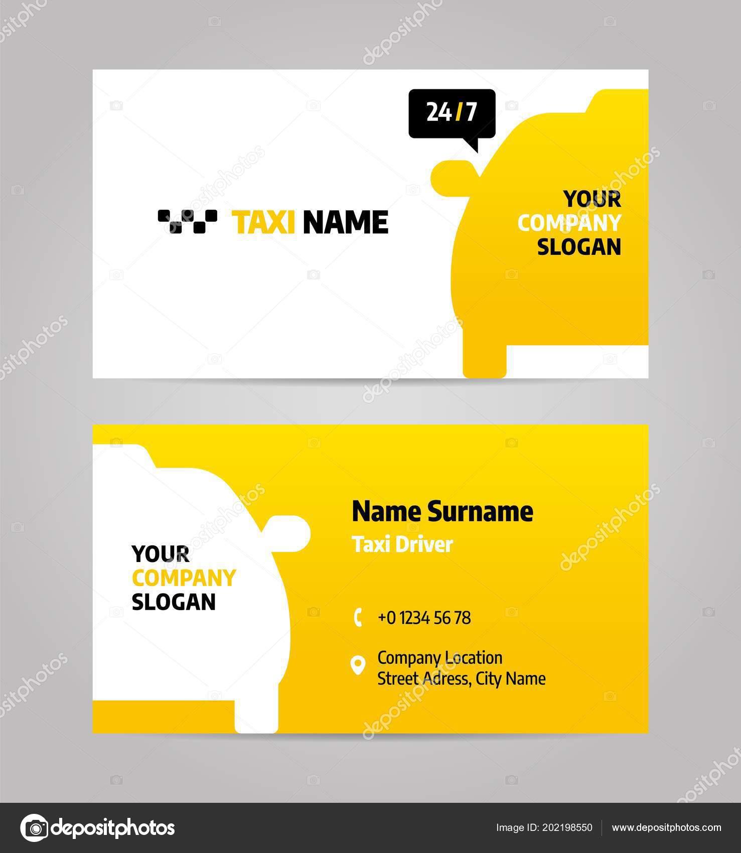 Taxi Geschäft Oder Visitenkarte Stockvektor Dimakostrov