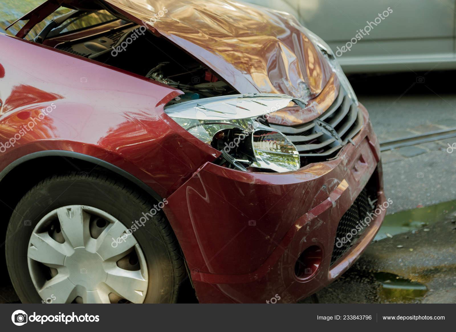 Odessa Ukraine September 2017 Car Accident Highway Traffic