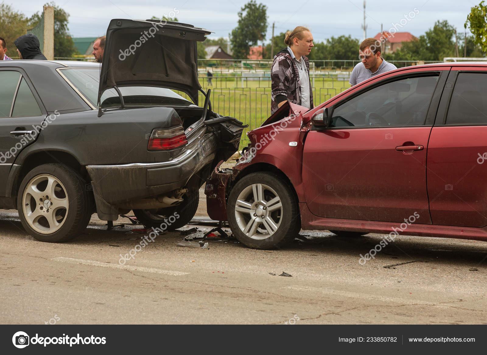 Odessa Ukraine August 2017 Accident Car Accident Street