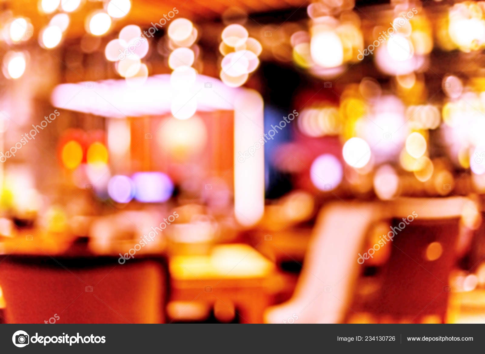 Interior Small Restaurant Blurred Background Blurred Bokeh Cafe Interior Warm Stock Photo C Alesik 234130726