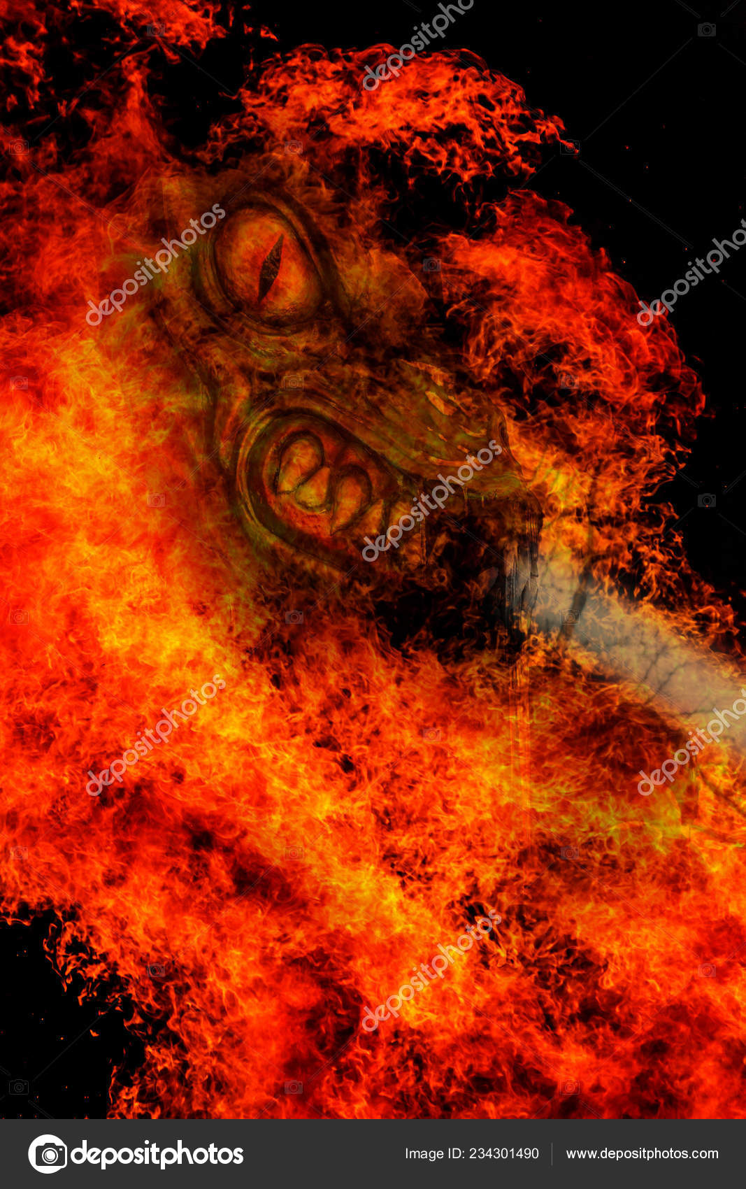 Burning Abstract Image Angel Death Termination