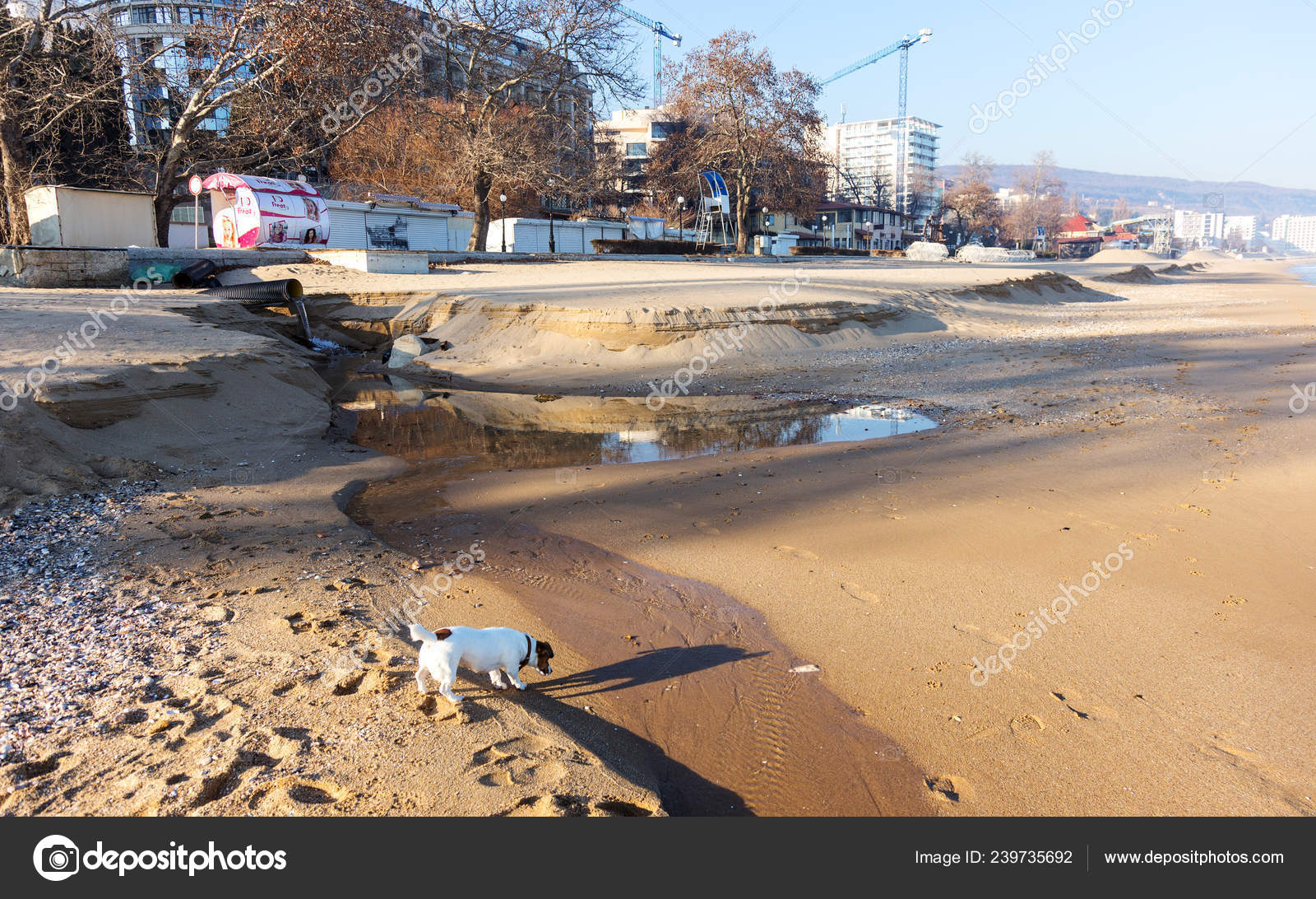 Varna Bulgaria Jan 2019 Industrial Waste Water Pipeline Discharges