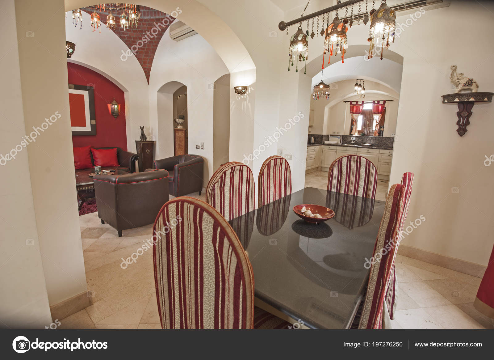 Wohnzimmer Lounge Bereich Luxus Appartement Zeigen Nach Hause Zeigen ...